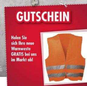 [Regional Leymann Baustoffe] 1 Warnweste (Orange) Gratis in den Märkten