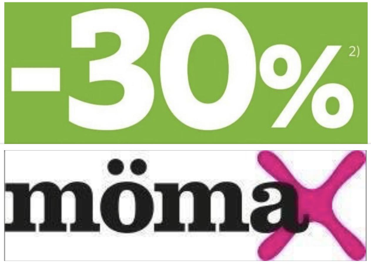 Mömax: 30% Rabatt auf ein Möbelstück Ihrer Wahl - ab 21.11. bis 23.11. - Im Onlineshop u. in den Filialen!