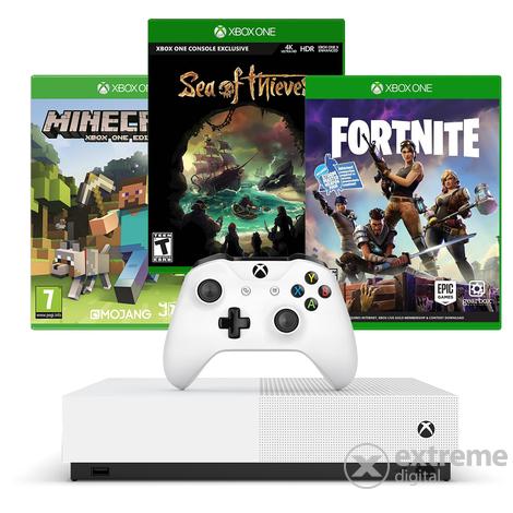 Microsoft Xbox One S 1TB All Digital Spielkonsole + Minecraft + Sea of Thieves + Forza Horizon 3 + Fifa 20