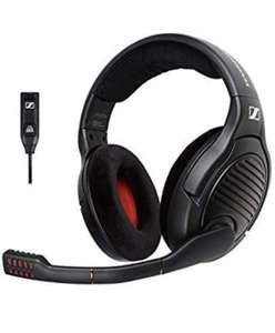 Sennheiser PC 373D 7.1 Surround Sound Gaming Headset - Black/Red Amazon.co.uk