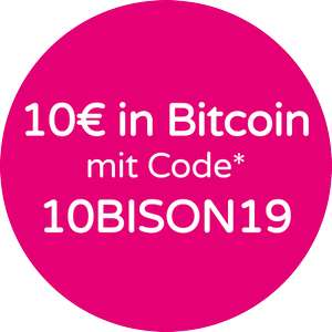 10€ in Bitcoin Bison App