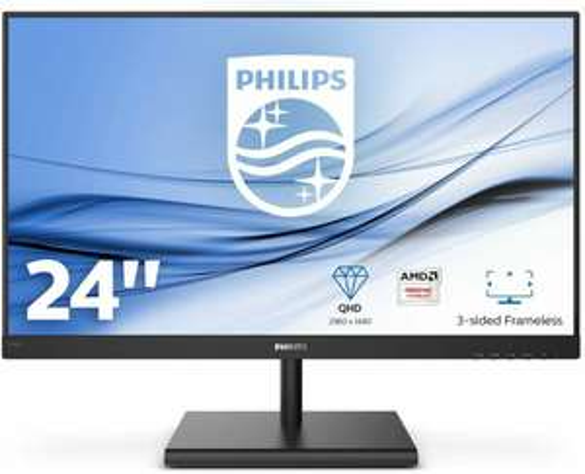 "Philips E-line 245E1S Monitor 23.8"" - 2560x1440, iPS, 75Hz, FreeSync (Amazon.es)"