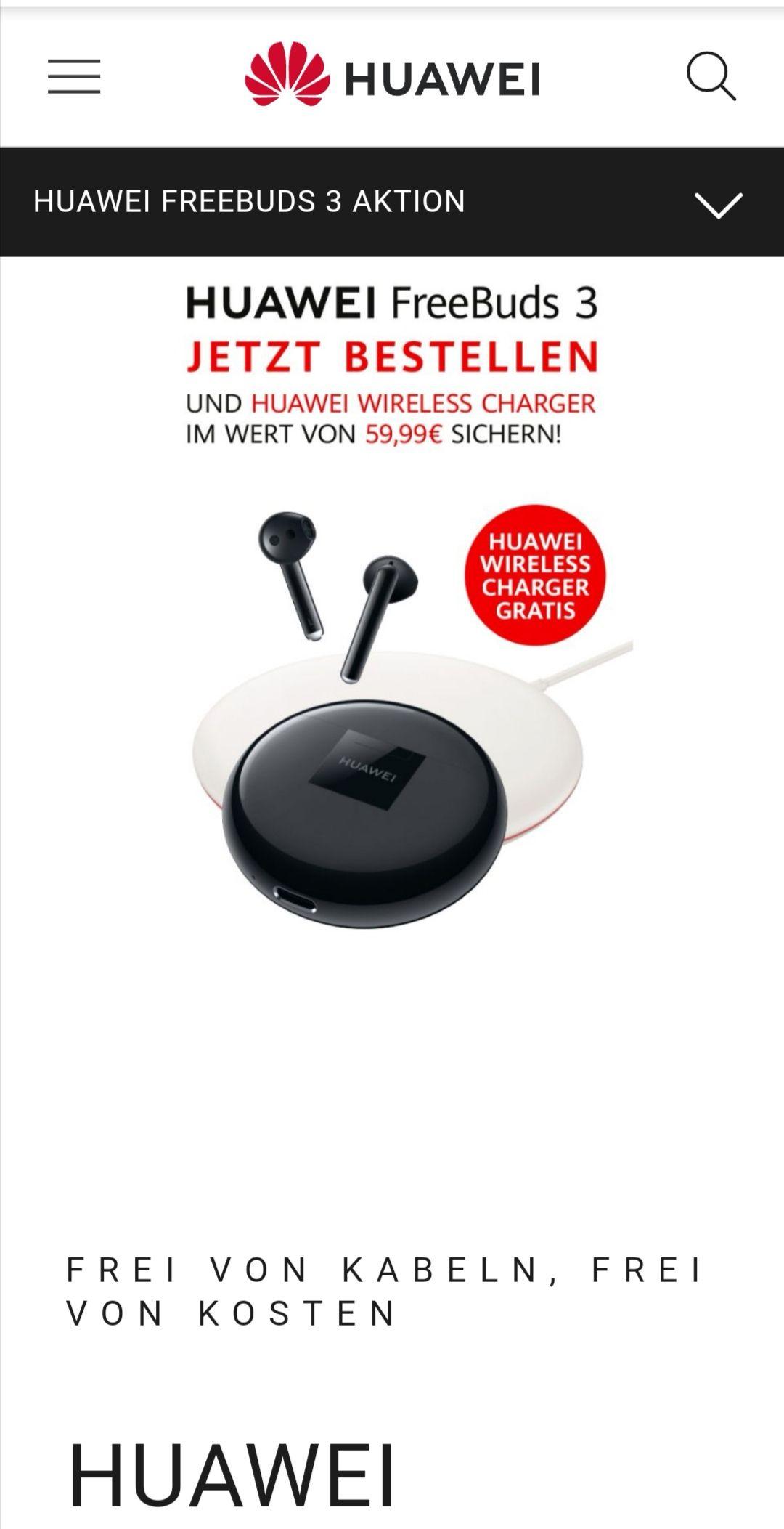 Huawei Freebuds 3 + Wireless charger