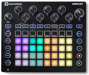 Novation Circuit: Groovebox (2-Part Synthesizer, 32 RGB Pads, 4-Part Drum Machine, Sample Import)