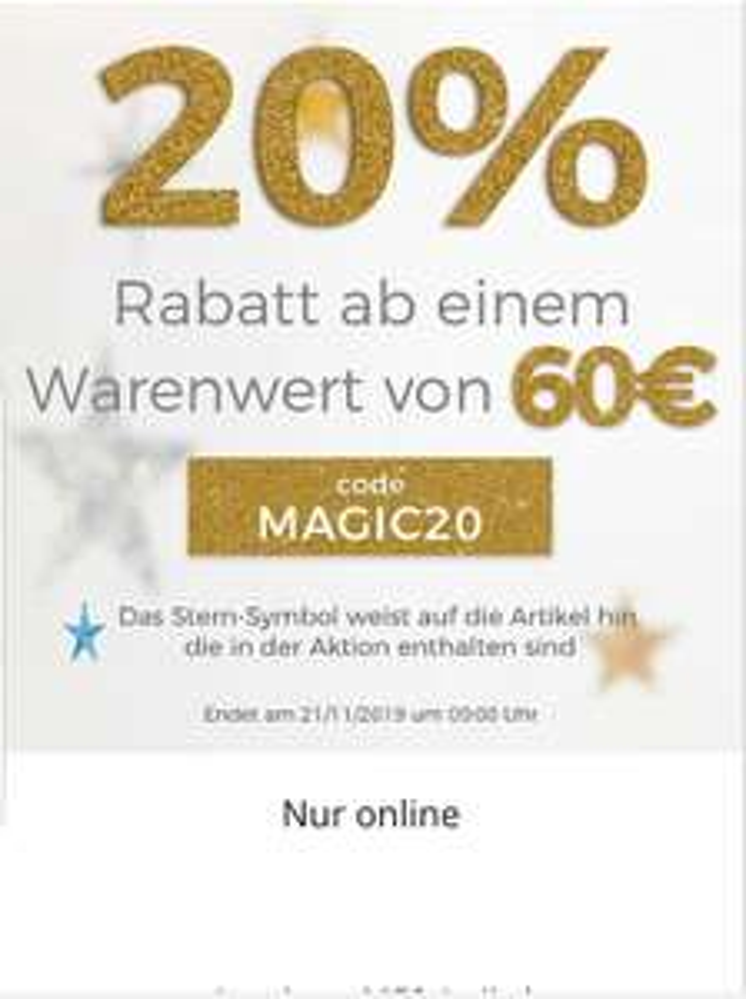 20% Rabatt im Disneyshop (nur online)