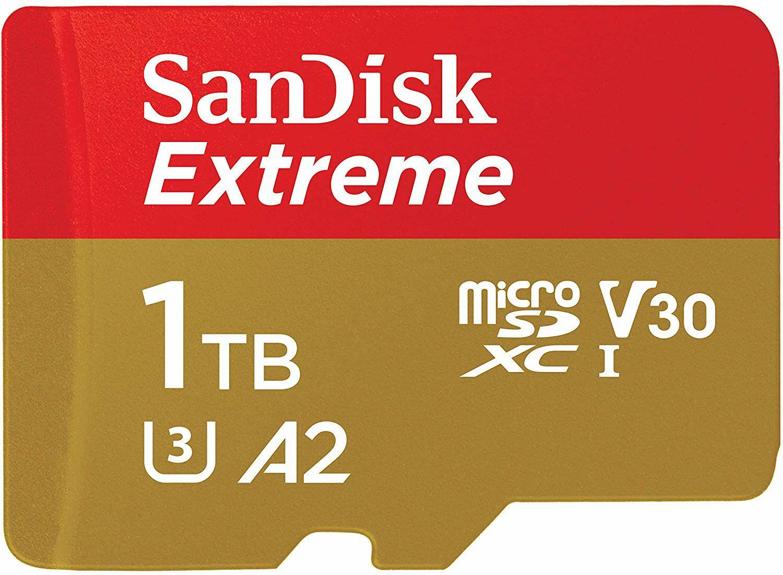 SanDisk Extreme microSDXC - 1TB, A2/U3/V30 (160MB/s | 90MB/s)