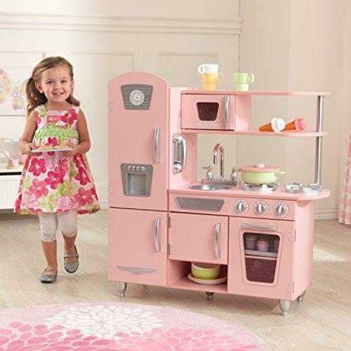 KidKraft 53179 - Rosa Retroküche Spielküche in schickem ...