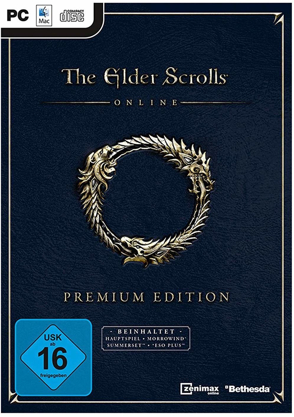 The Elder Scrolls Online: Premium Edition inkl. 3 Monate ESO Plus (PC) für 19,99€ bzw. für 16,99€ (Müller & Amazon Prime)