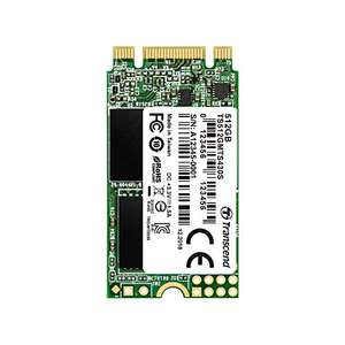 Transcend 512GB SATA III 6GB/S MTS430S 42 mm m.2 SSD 2242