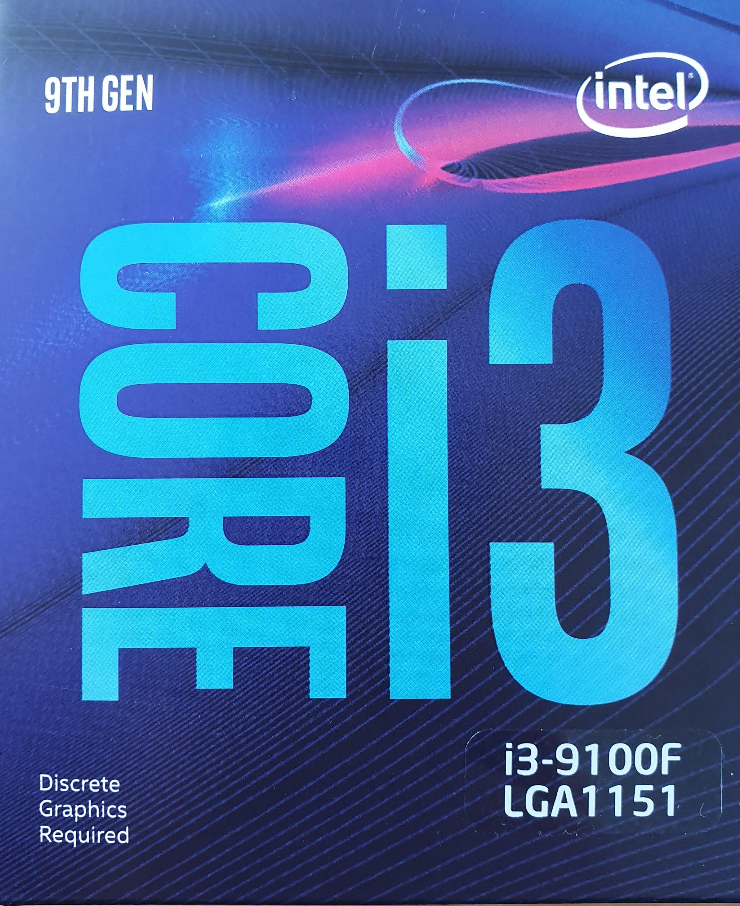 Intel Core i3 9100F boxed CPU LGA 1151 PAYDIREKT NBB