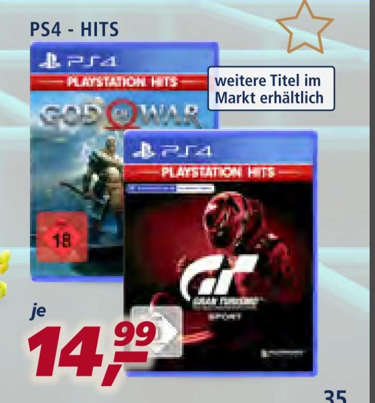[real F&F nur vom 29.11. - 30.11.] God Of War / Gran Turismo: Sport / u.a. PS4 Hits-Titel für je 11,24€