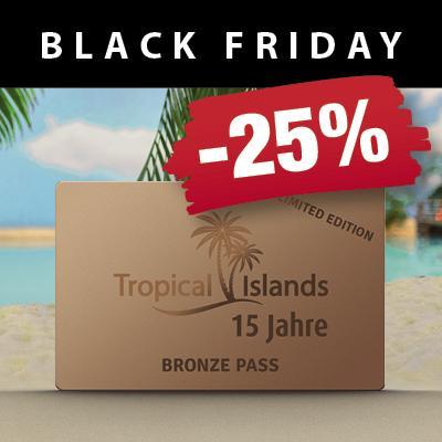 25% Rabatt auf Tropical Islands Jahreskarten