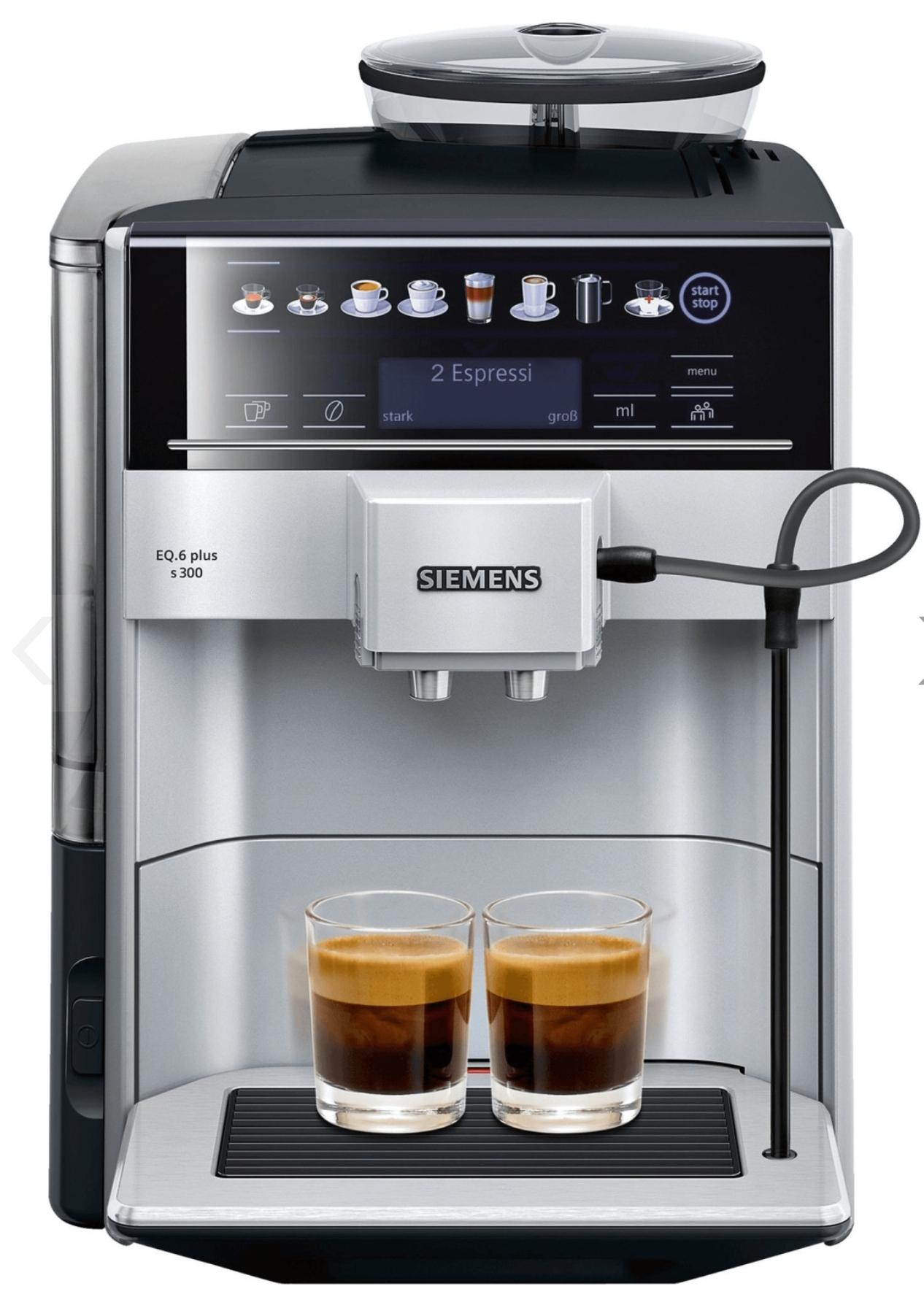 [Lokal: Nürnberg] Siemens Kaffeevollautomat EQ.6 plus s300 - TE653501DE
