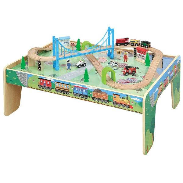 Squirrel Play Eisenbahnset mit Spieltisch, 50 Teile Smyths Toys