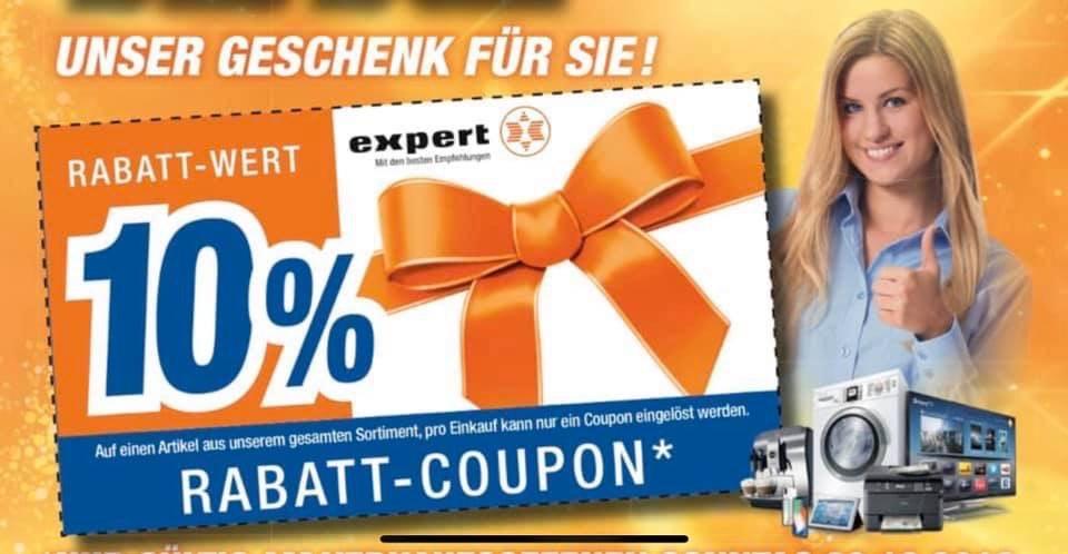 10% Gutschein bei Expert in Goslar auf fast alles !