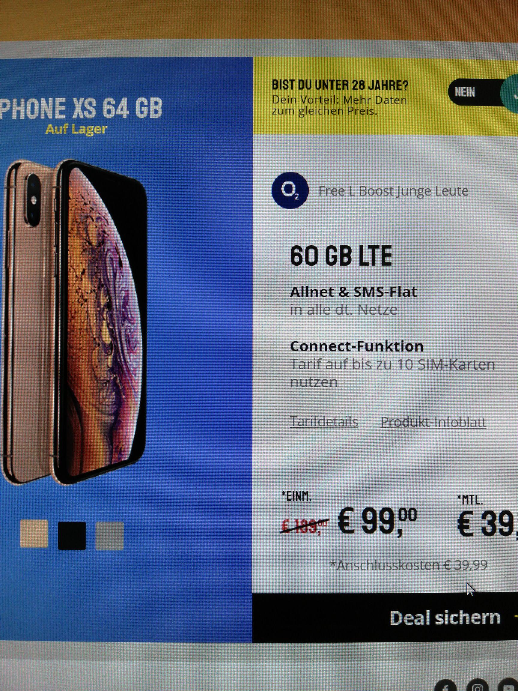 Young Iphone Xs bis zu 60 GB LTE