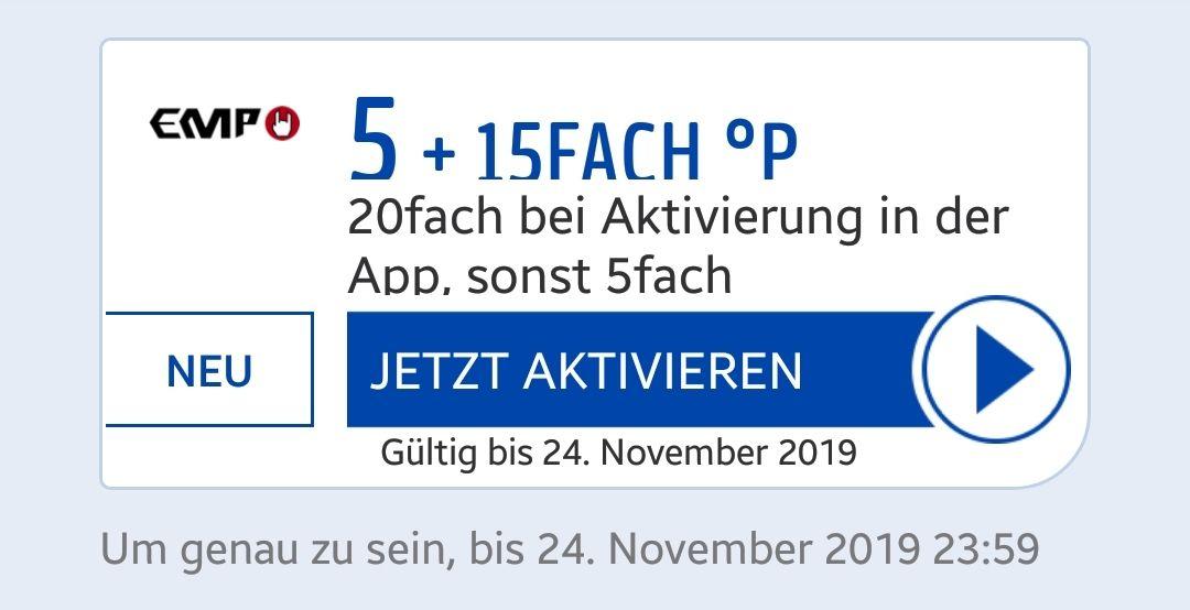 [Payback] EMP Merchandise-Fanartikel 5 + 15FACH °P - 20fach Punkte bei Aktivierung in der App, sonst 5fach