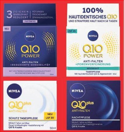 NIVEA Q10 Plus oder Power, Tages- oder Nachtpflege, 50ml für 5,99 Euro / Dove Deospray (versch. Sorten) für 1,29 Euro [Jawoll ]