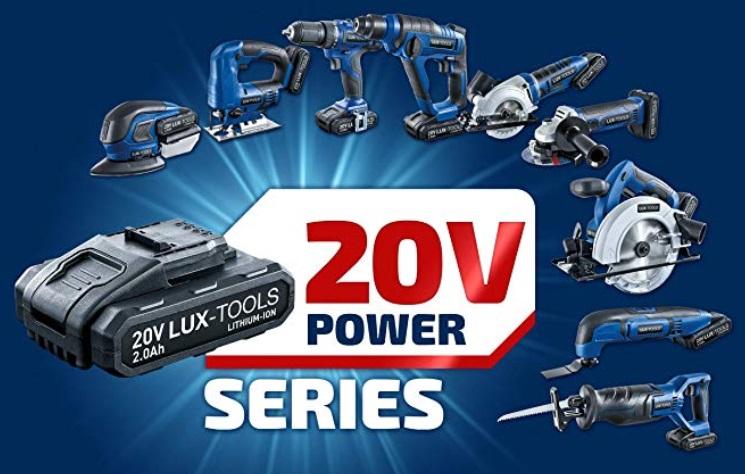 50% Rabatt auf 20V Akku-Werkzeuge von LUX-TOOLS, Akku-Bohrschrauber, -Bohrhammer, -Winkelschleifer, -Stichsäge, -Säbelsäge, -Handkreissäge