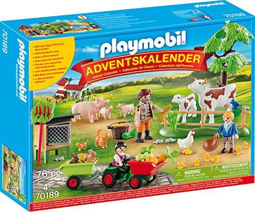 Playmobil Adventskalender - Auf dem Bauernhof, 1 Kulisse, 3 Figuren, 72 Teile (Prime)