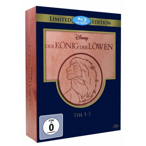 [BLU-RAY] Der König der Löwen 1-3 - Trilogie Holzbox @ Amazon für 32,97 EUR