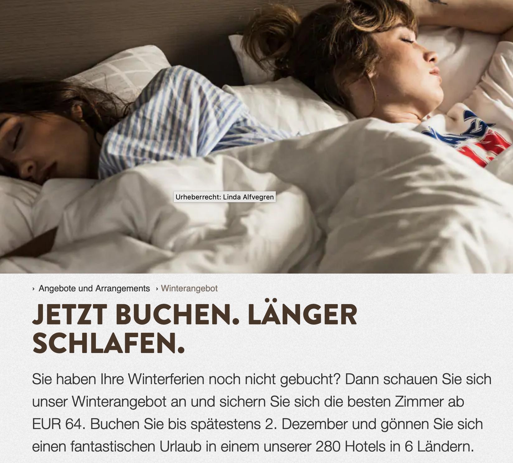 Exklusiv vorab: Doppelzimmer ab EUR 64 pro Nacht / Winterangebot bei Scandic Friends