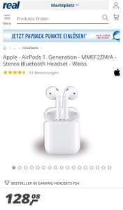 Apple Airpods 1. Generation bei Real für 128,08€