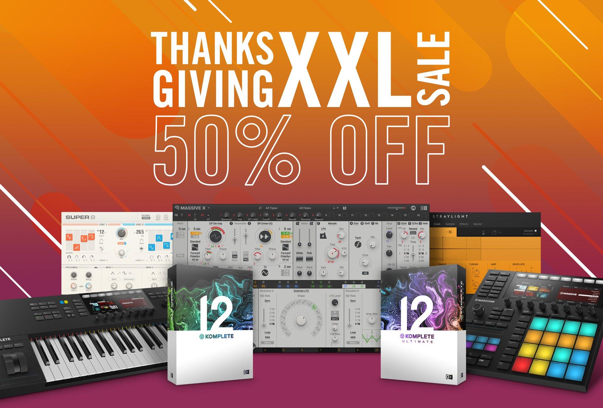 Native Instruments 50% auf viele Software Produkte