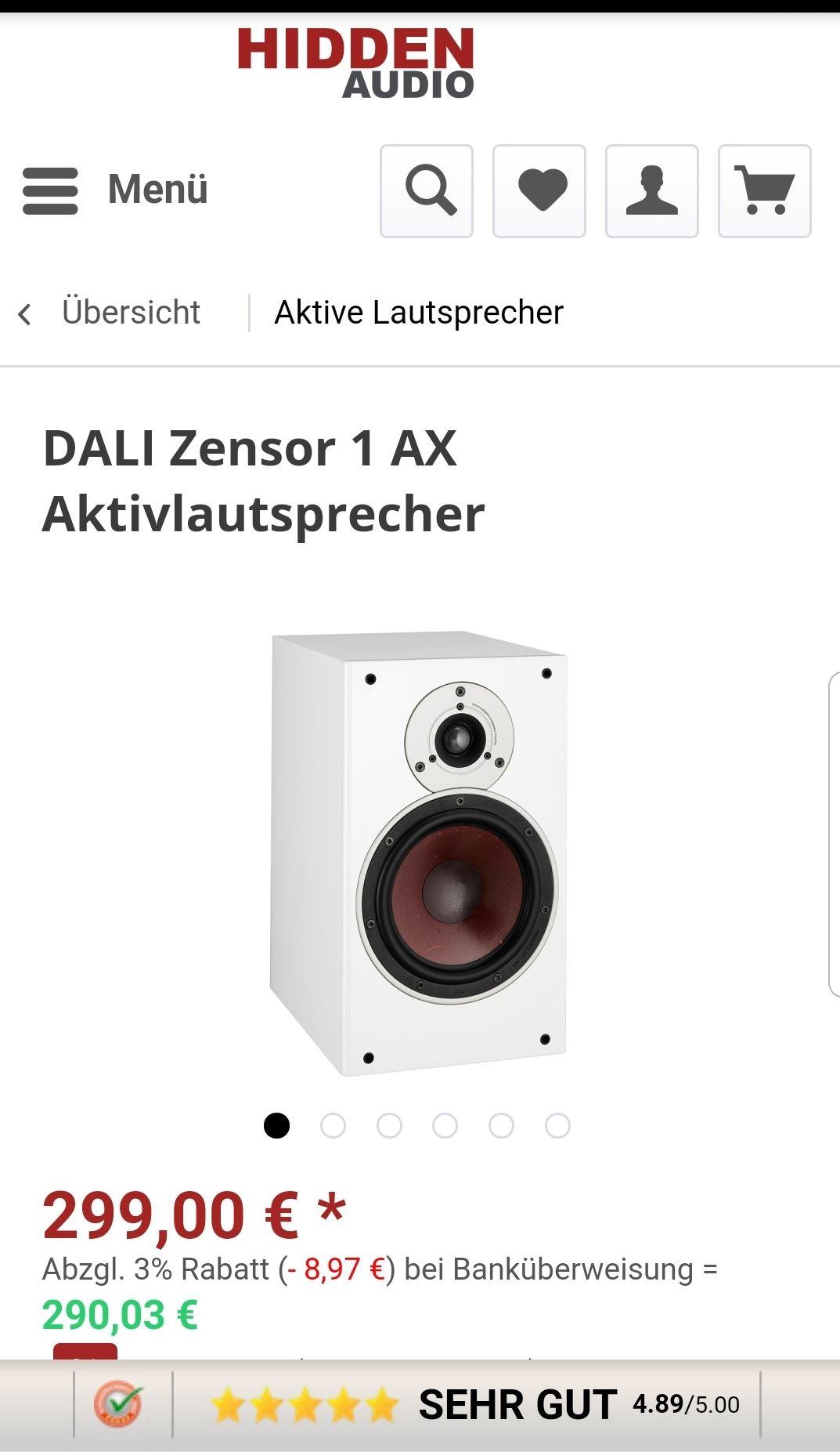 DALI Zensor 1 AX Aktiv-Regallautsprecher (Paarpreis)
