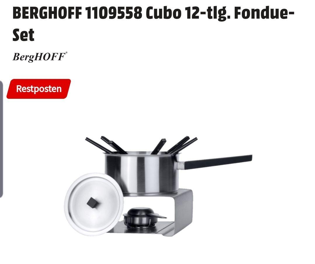 Restposten BERGHOFF 1109558 Cubo 12-tlg. Fondue-Set