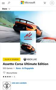 [xbox] [Live Gold] [MS Store] Assetto Corsa in der Ultimate Edition