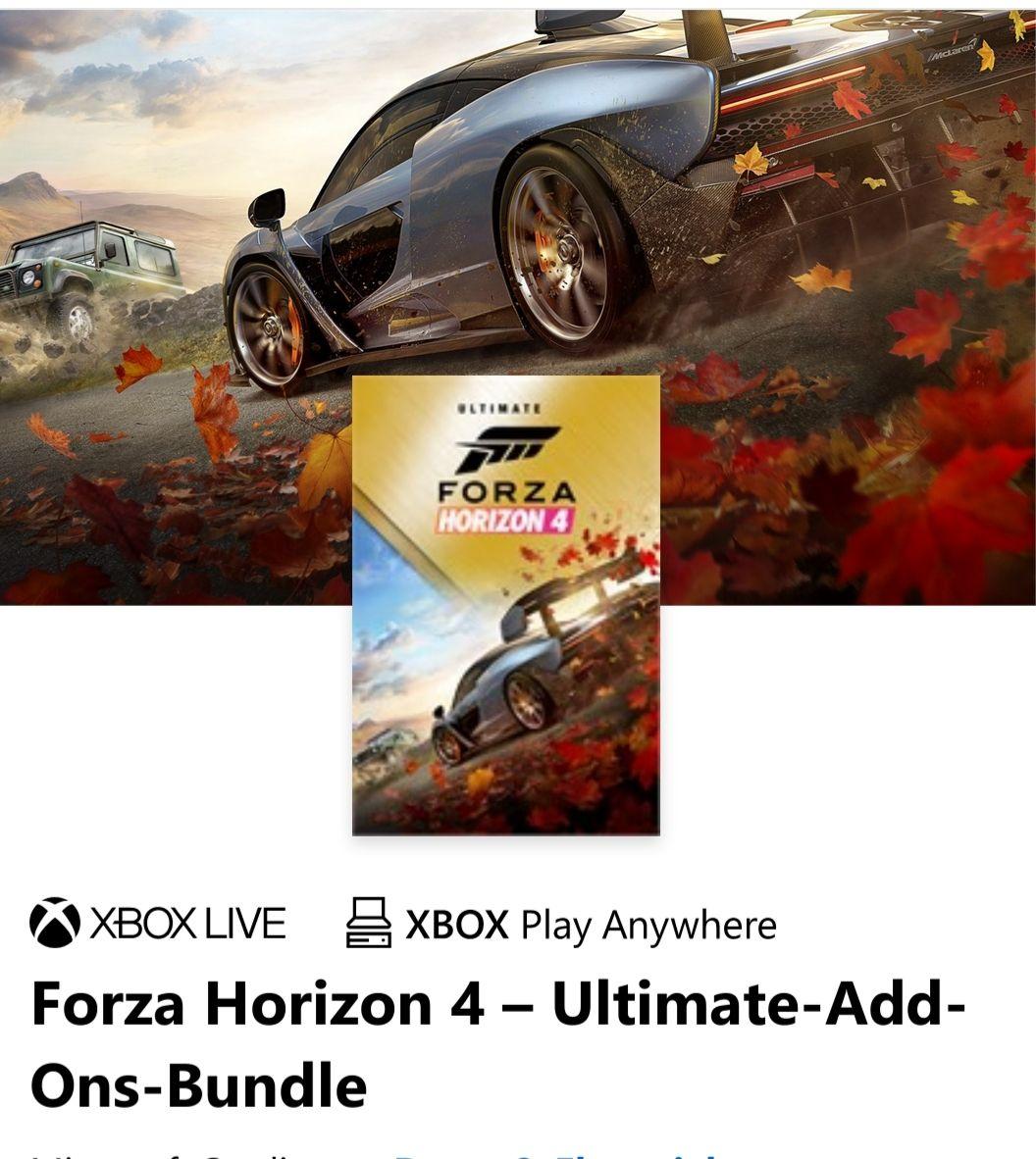 Forza Horizon 4 – Ultimate-Add-Ons-Bundle mit Gold
