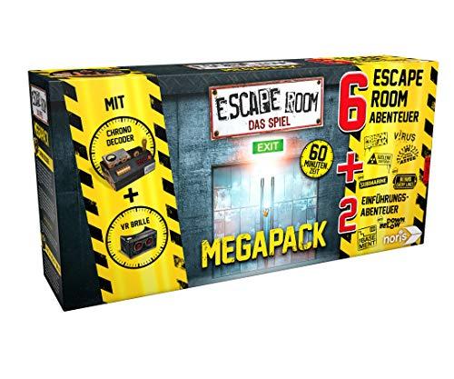 Escape Room Mega Pack von Noris inkl. 6 Fälle, 2 Mini Games, VR-Brille und Chrono Decoder (prime)