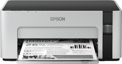 S/W-Tintenstrahldrucker Epson EcoTank ET-M1120 (A4, 15S/min, 150 Blatt, WLAN, USB 2.0, Druckkosten von ~0.2 Cent pro Seite)
