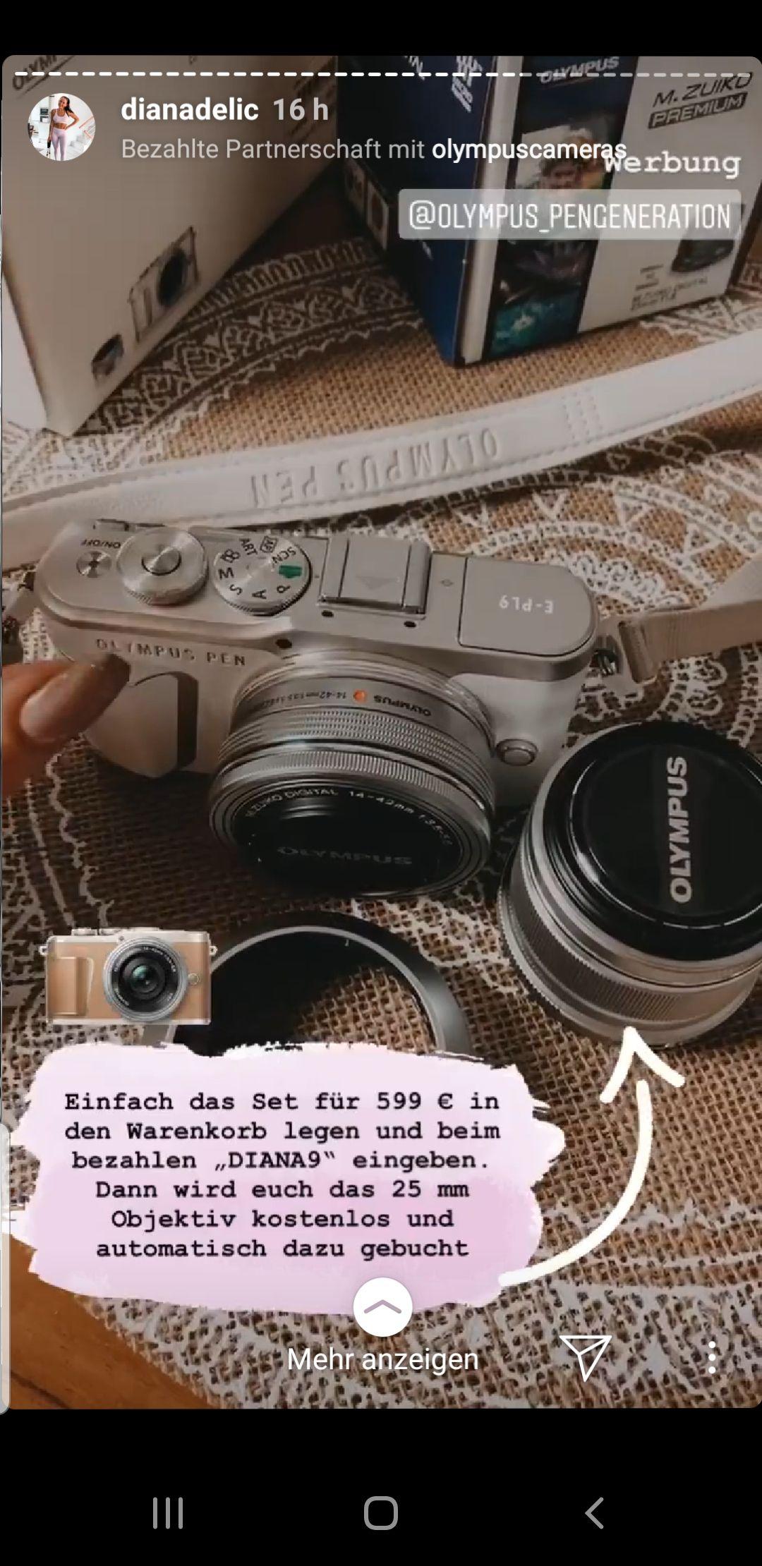 Kamera Olympus Pen E-Pl9 + Objektive