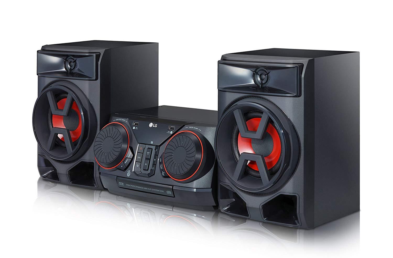 [Technikdirekt / Mastercard] LG CK43 Mini HiFi System mit CD, Radio, USB Eingang, Bluetooth Chrom/Schwarz/Rot