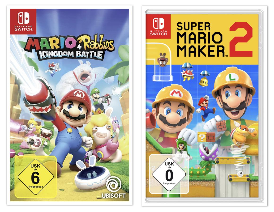 Mario + Rabbids: Kingdom Battle Nintendo Switch für 15€ o. Super Mario Maker 2 für 34,11€ inkl. Versandkosten mit Paydirekt