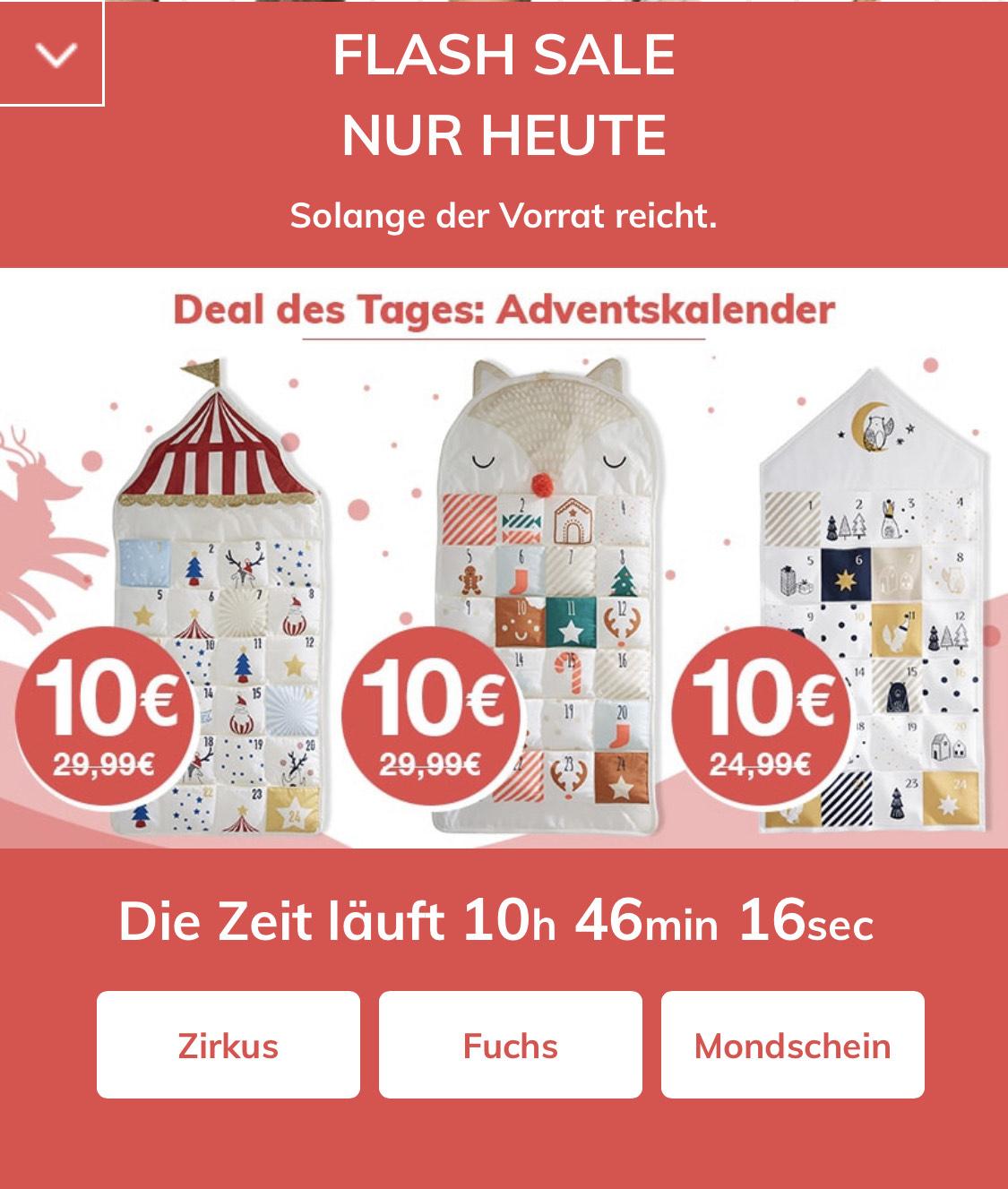 Vertbaudet Adventskalender Flash Sale aus Stoff