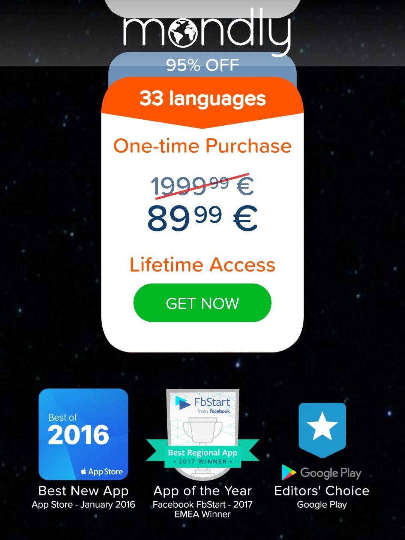 Lebenslang Sprachen online lernen mit Mondly