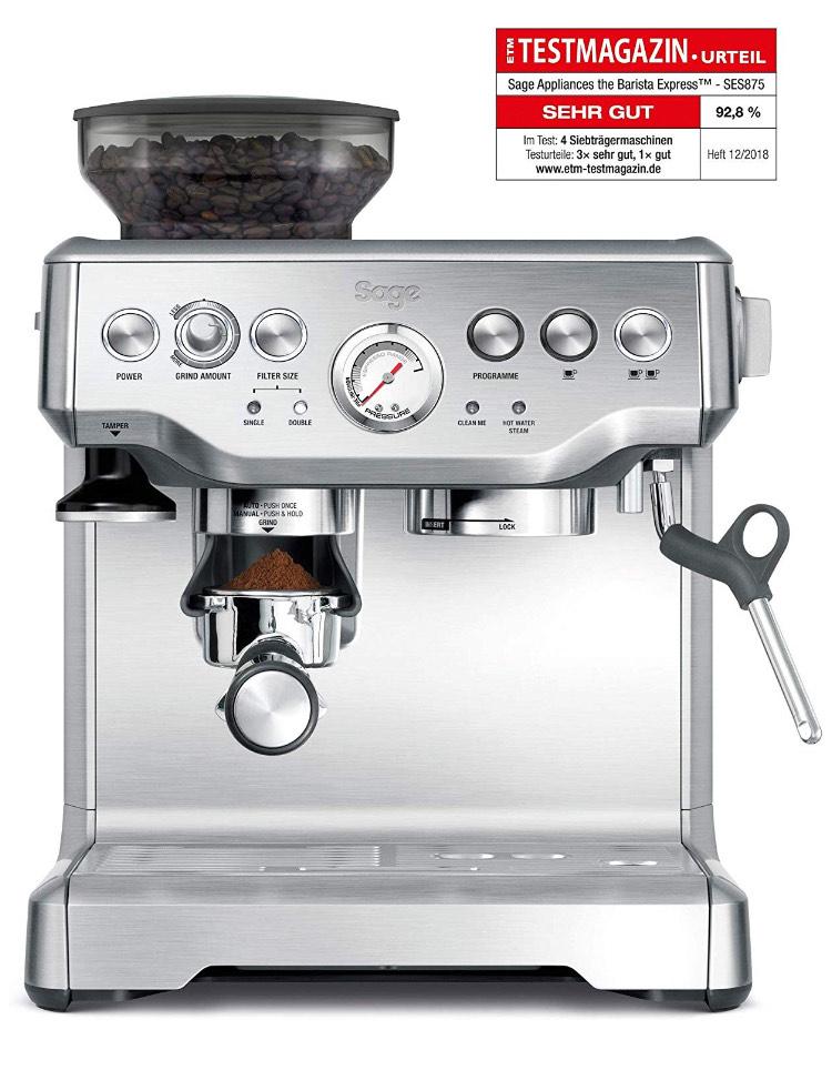 SAGE SES875 the Barista Express, Siebträger Espressomaschine Kaffeemaschine PID