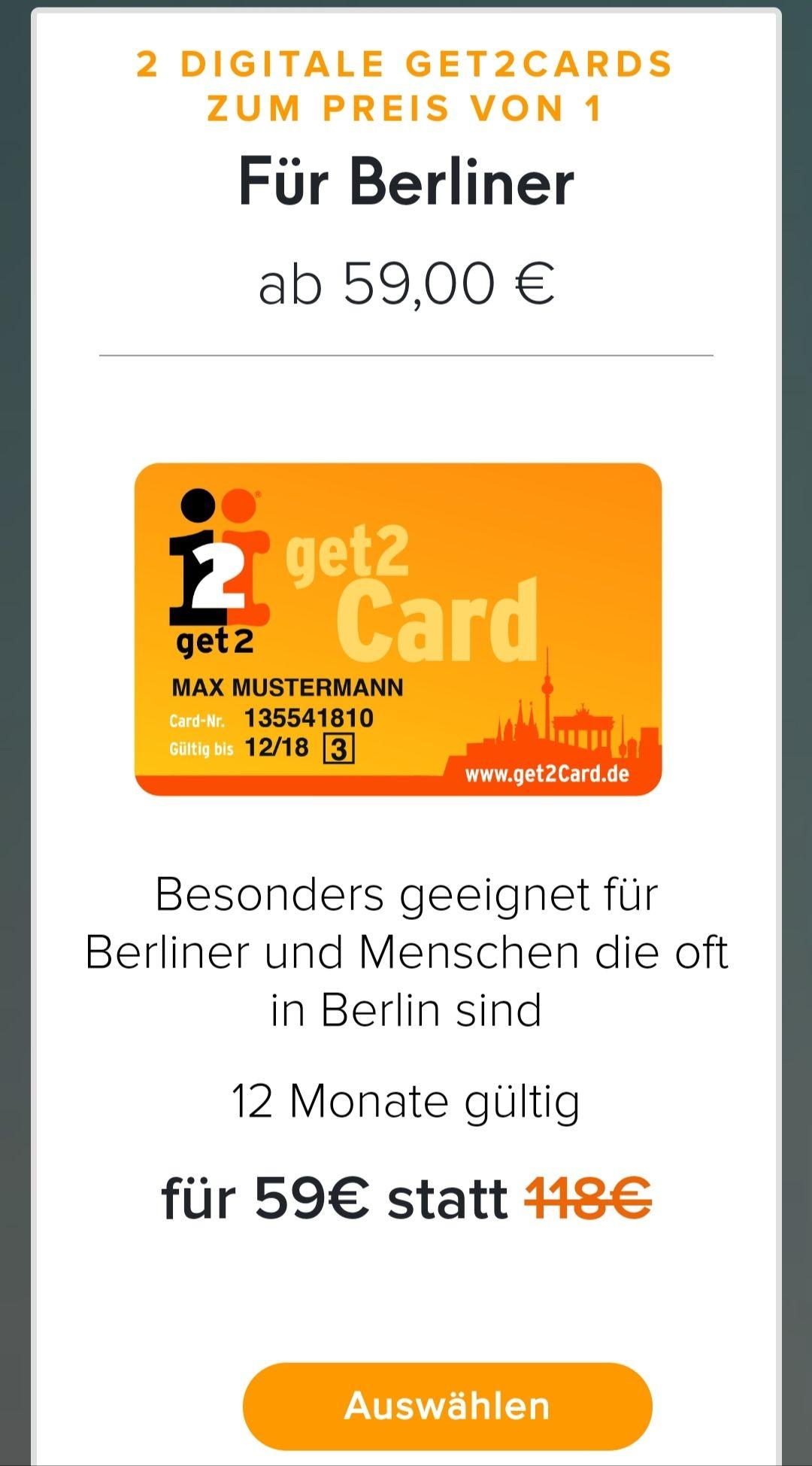 [Berlin] get2card Digital 2für1