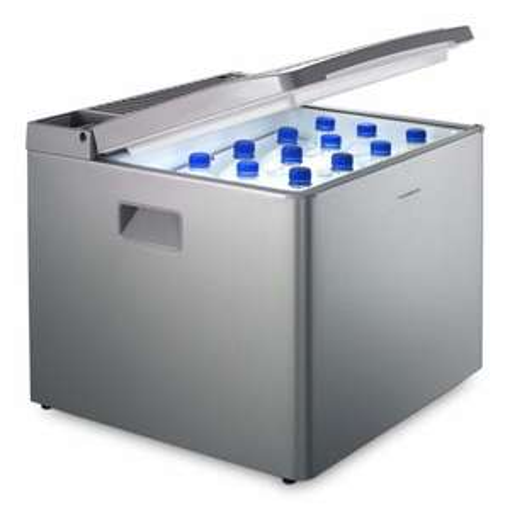 Dometic CombiCool RC 1200 EGP – lautlose Absorber-Kühlbox mit Gas-Anschluss 50mbar, 40L, 12V und 230V für Auto, Lkw und Steckdose