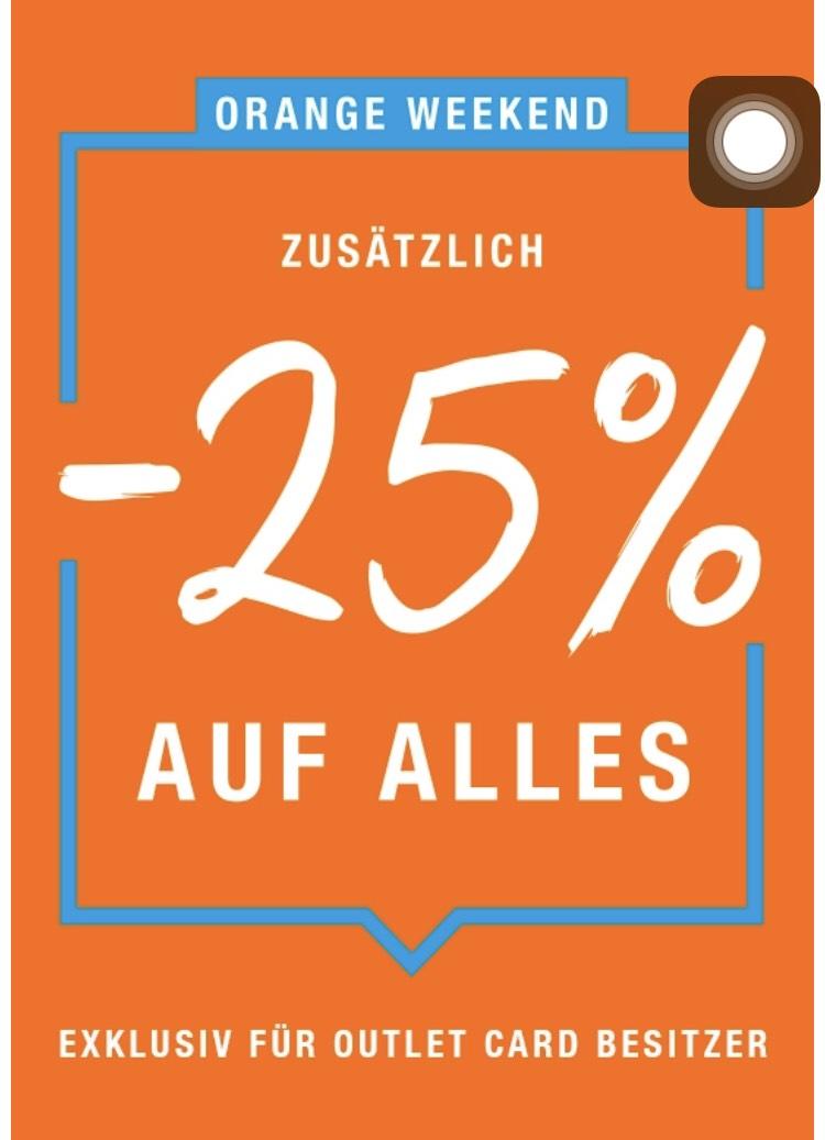 Lokal FFM Berlin Hamburg Köln Münster Leipzig Zalando Outlet zusätzlich 25% Rabatt