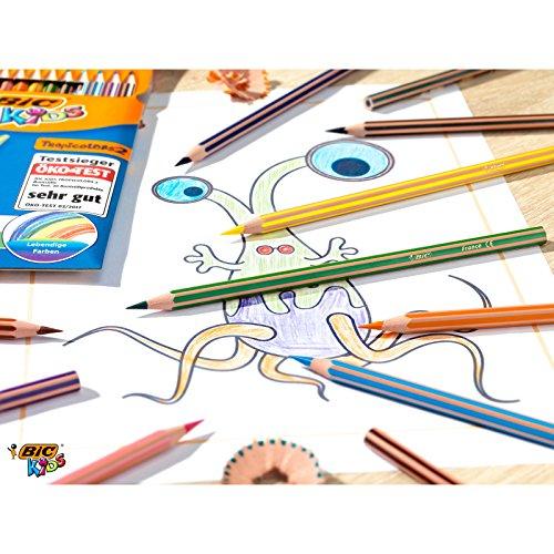 ( AMAZON PLUS ) BIC Buntstifte Set ab 5 Jahre mit bruchsicherer Mine – Öko-Test sehr gut – 12 Stifte im Kartonetui