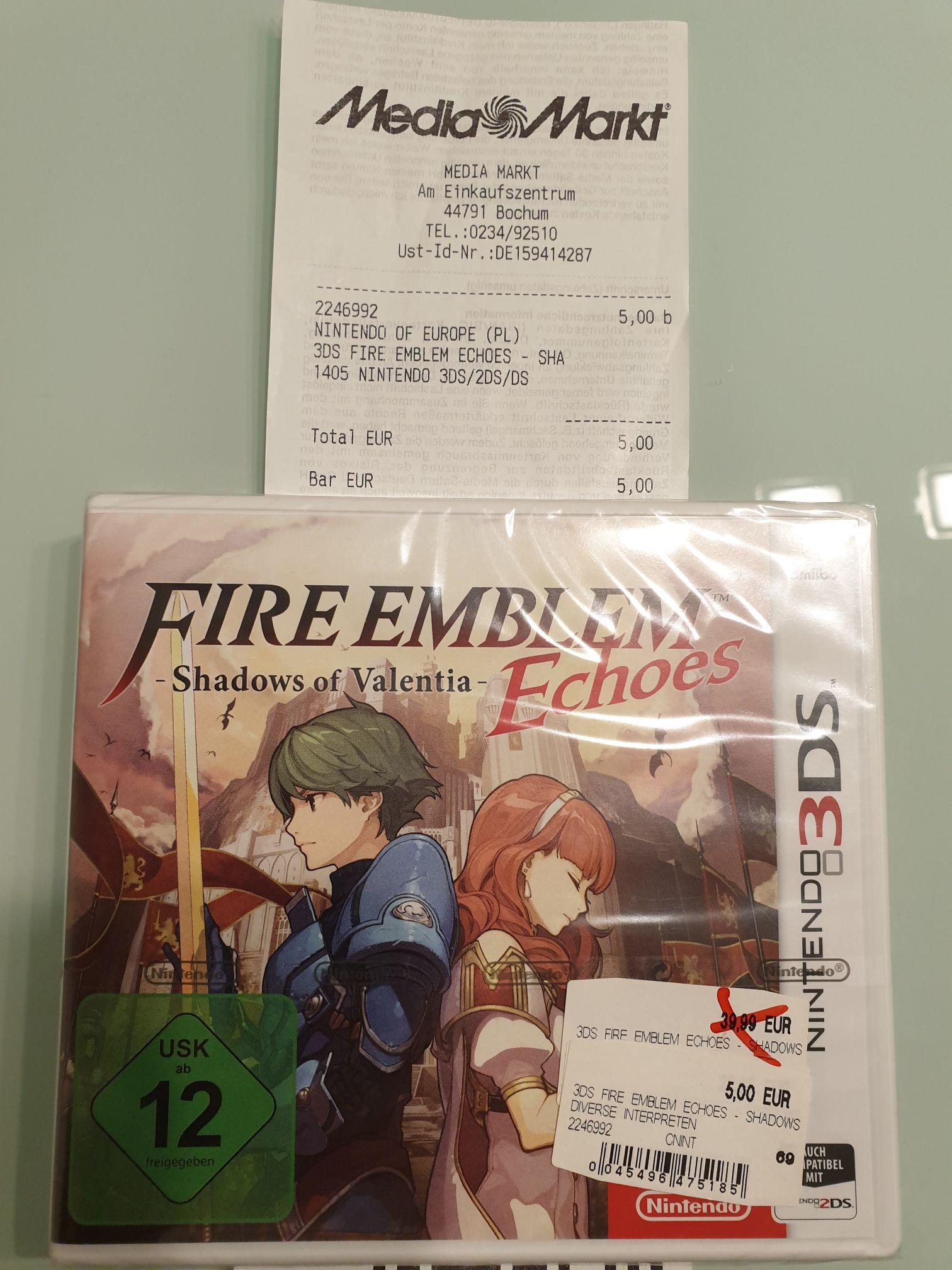 Fire Emblem Echos Shadows of Valentina - Nintendo 3DS ( lokal MM Bochum Ruhrpark)