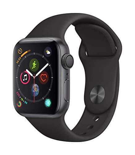 Apple Watch Series 4 (GPS, 40 mm) für je 329 bzw. 359 € (44mm - Weiß, Schwarz, Sandrosa) MIT Sportloop in Silber und Gold