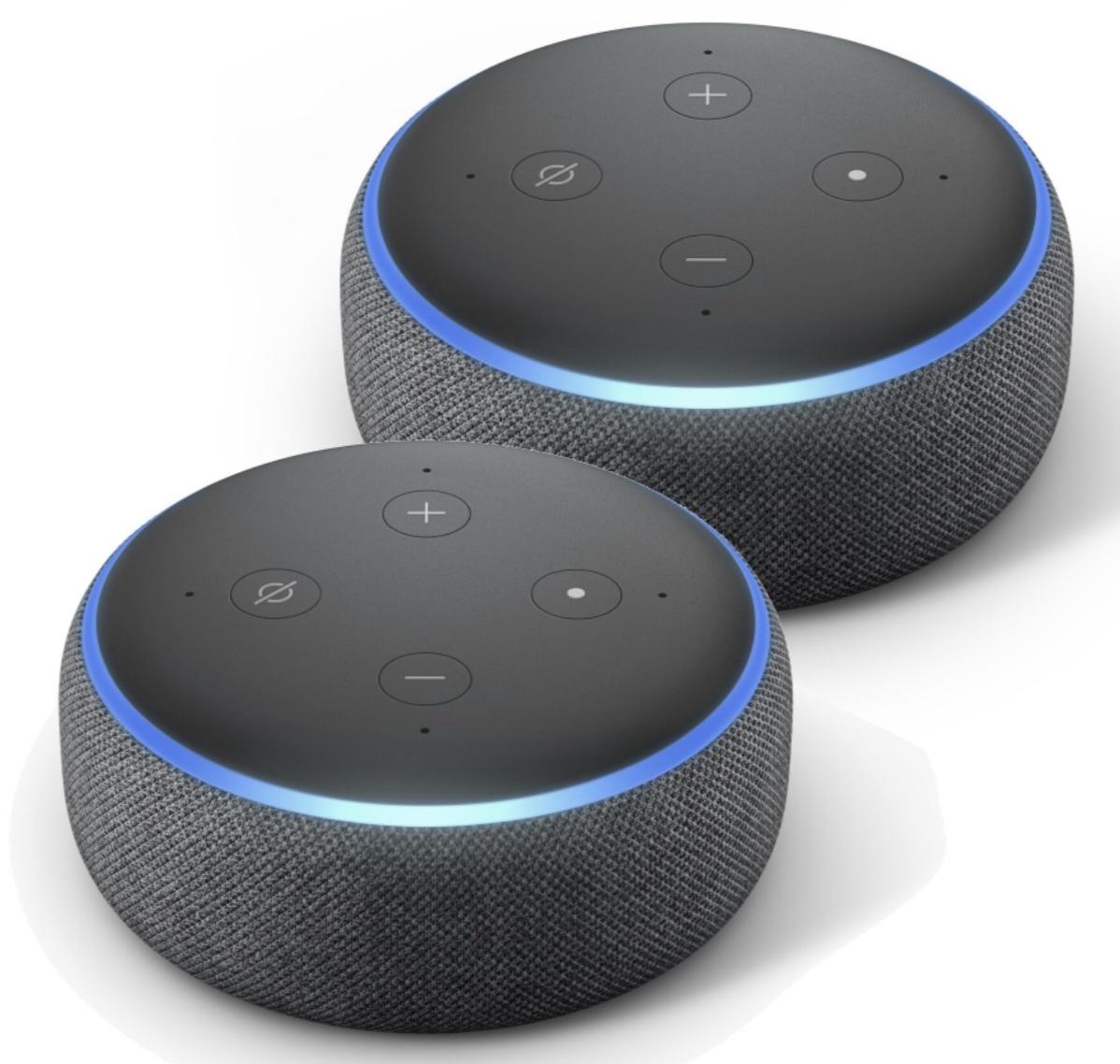 2 x Amazon Echo Dot für 32,97€ inkl. Versandkosten mit Paydirekt