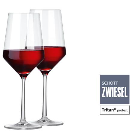 Primitivo Weinpaket 4 x 2 Fl. und 2er Set Zwiesel Kristallglas Weingläser