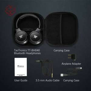 TaoTronics TT-BH040 Active Noise Cancelling Kopfhörer, Bluetooth Headset, Over Ear, Bluetooth 4.2