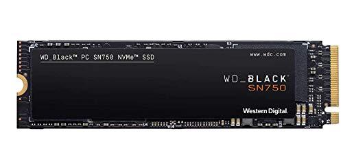 Western Digital WD Black SN750 NVMe SSD interne Festplatte 1 TB 3470 MB/s Lesegeschwindigkeit, schlankes Design NVMe SSD-Performance AMAZON